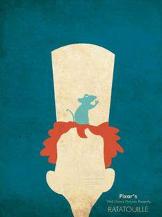 #PIXAR #Minimal_Design_Poster  #Ratatouille        #レミーのおいしいレストラン  # ピクサー #ミニマルデザイン・ポスター
