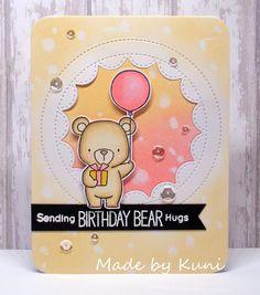card critters bear cake gifts MFT beary special birthday Die-namics #mftstamps Beary Special Birthday Stamp Set Kunis Bastelblog: Birthday Bear Hugs