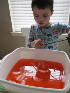"Color mixing - ice ""fishing"""