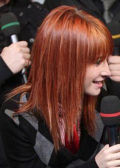 Hayley Williams with a more subtle orange color
