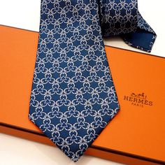 Hermes ties are known the world over for their quality and their timeless and classic look. Hermes ties are made of fine silk and are hand-folded and hand-sewn. Modern ties are wide and ty Hermes Men, Tie Crafts, Skinny Ties, Men Style Tips, Silk Ties, Pattern Fashion, Mens Fashion, Fashion Trends, Fashion Styles