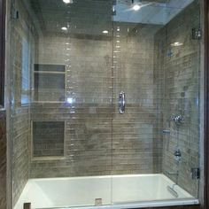 Small Bathroom Shower With Tub Tile Design Bing Images Hall Bathroom Pinterest Small Bathroom Showers Tub Tile And Tile Design