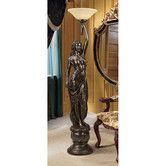 Shop for Design Toscano Goddess Hestia Sculptural Floor Lamp. Get free delivery On EVERYTHING* Overstock - Your Online Lamps & Lamp Shades Store! Crushed Stone, Torchiere Floor Lamp, Animal Statues, Hearth And Home, Garden Statues, Garden Sculptures, A 17, Lamp Design, Glass Shades