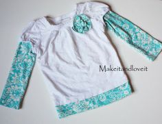 Re-purposed shirt:  Short Sleeve to Long, with matching capri pants too.
