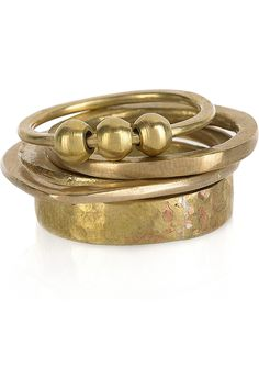 MADE  Nne Moja set of four brass rings  $42