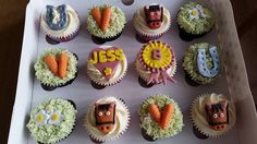 Pony themed birthday cupcakes
