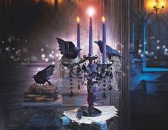 Crow candelabra - Halloween