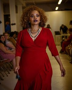 The lovely @mzprettysagg wearing Kiyonna from @sophisticatedcurves at the Rock the Curves Fashion Show. #rockthecurves #plussizefashion #plussizeprofessional #plussizemodel