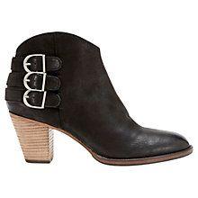 Buy Mint Velvet Stella Nubuck Ankle Boots, Black Online at johnlewis.com. On the birthday list !