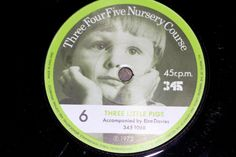 45 r.p.m  Number 6 Walking & Three Little Pigs Three Four Five Nursery Course Record series
