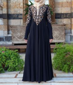 Secret Garden gown in Black. From Shukr Islamic Clothing