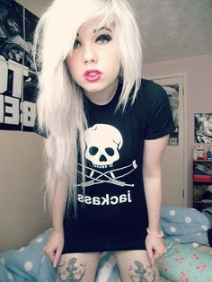 So i want to get my hair this white but not just my bangs, like my whole head but idunno