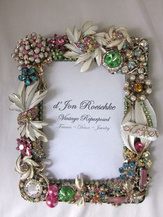 Vintage jewelry frame evocative of Spring! Dedicated to Mother...