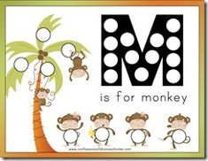 Preschool activities for the letter M. I think I'm going to be using this website a lot!