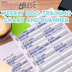 Printable Dog Training Chart and Planner - Instant Download!  Have trouble trying to plan out what you want to train with your dogs and keeping to task? This Printable Training Chart and Planner is broken down by each day of the week, with six lines to write down tricks, skills, or other goals - and will help you keep on track with a checkbox to mark off when youve worked on each trick! Easily set goals, plan training sessions and each day, and reward yourself by checking off the box when…