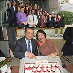 All smiles as we welcome our extended family at Le Meridien Gurgaon. Esteemed General Managers, Mr. David Hopcroft and Ms. Kanika Hasrat happily pose for us! Courtyard Marriott Gurgaon  #Togetherwearebetter #MIAPAC #MIWorld #JourneyStartsHereAP