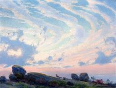 Sunset, The Envious Fox - Charles Courtney Curran - The Athenaeum