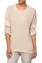 winter chunky pullover, COOKIE DOUGH/WHITE TWIST