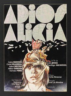 "MP041. ""Adios Alicia"" Spanish Movie poster by Iván Zulueta (Liko Pérez & Santiago San Miguel 1977) / #Movieposter"