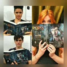 How cute is that pls... That's real friendship #saveshadowhunters #pickupshadowhunters #malec #clace #sizzy #matthewdaddario #harryshumjr…