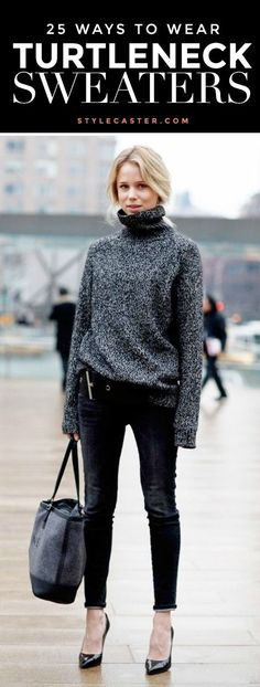 Styling a Turtleneck! Here's 25 different ways to wear the season's coziest trend! Which is your favorite?