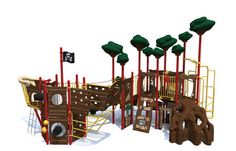 I think this may be my favorite. So many potentials for imaginative play! Castaway Cove, Commercial Playground Equipment, Park Playground, Imaginative Play, Custom Design