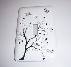 Tree of Hearts single light switch cover by MoanasUniqueDesigns Switch Plate Covers, Light Switch Plates, Electrical Outlet Covers, Diy Light Fixtures, Point Light, Alcohol Ink Art, Diy Interior, Light Switch Covers, Plates On Wall