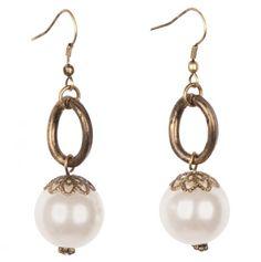 Pearl Bead Earrings.