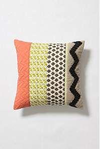 mixed fabric pillow- DIY