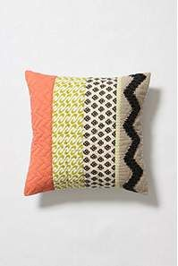 mixed fabric pillow- DIY