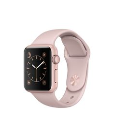 Apple Watch - Rose Gold Aluminum Case with Pink Sand Sport Band - Apple