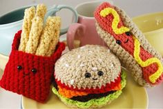 Fast food crochet patterns 웃❤유Like our Fb Page: https://www.facebook.com/Kawaiinederland?ref=hl