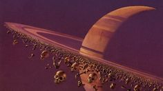 Concept Art Writing Prompt: The Planet with the Ring of Bones