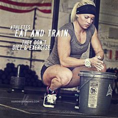 Libby Dibiase - Athletes Eat and Train. They Don't Diet & Exercise. #motivation #hardbody