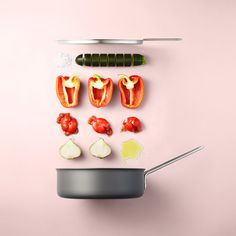 Danish homewares company Eva Solo approached still life photographer Mikkel Jul Hvilshøj to capture these neatly arranged food ingredients for their new campaign. More photography inspiration via Feather of Me