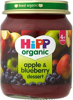 Hipp Organic Apple  Blueberry Dessert 4mth 125g -- Click on the image for additional details. #Food
