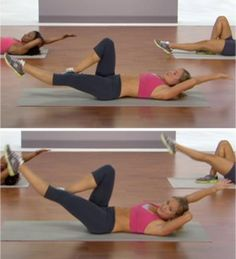 10 Moves for a Flat Stomach - Get flat abs fast with this routine from SHAPE's Pink Power: Flat Abs 5 Ways DVD http://www.shape.com/fitness/workouts/10-moves-flat-stomach