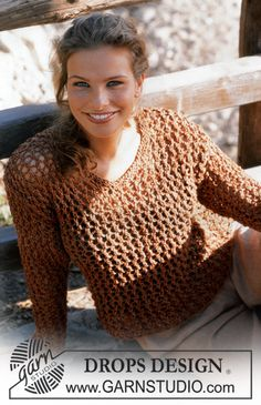 Women - Free knitting patterns and crochet patterns by DROPS Design Drops Design, Knitting Patterns Free, Knit Patterns, Free Knitting, Free Pattern, Tweed, Magazine Drops, Plus Size Patterns, Yarn Ball