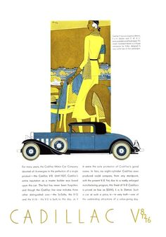 Cadillac V-8 Advertising (1931): Coupe, with coachwork by Fisher - Illustrated by Leon Benigni
