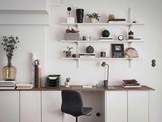 Ikea Algot, Ikea Workspace, Home Interior Design, Interior Architecture, Ikea Makeover, Studio Room, Ikea Hack, Hacks, Hemnes