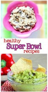 Blondies, cookies, and many more crowd-pleasing ideas for your Super Bowl party. All recipes are highly rated, by vegetarians and carnivores alike. http://chocolatecoveredkatie.com/2013/01/30/seventeen-healthy-super-bowl-recipes/