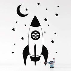 Rocket WallSticker - Black  - Ferm Living - $74.99 - domino.com