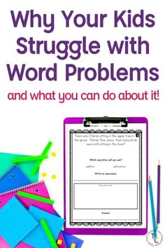 Do your students struggle solving word problems? You might be making this very popular mistake! Read more on why kids struggle with story problems and what you can do about it. No matter what grade you teach- primary or intermediate- these problem solving strategies will help your students become master problem solvers! 3rd Grade Words, Math Blocks, Third Grade Reading, First Year Teachers, Math Work, Instructional Strategies, Writing Words, Teacher Tools, Math Classroom