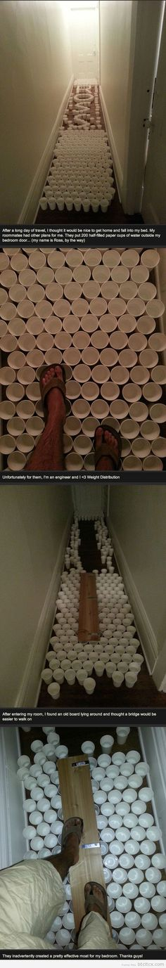Out-engineering the roommates | Funny Pictures