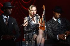 """Madonna has told fans that 30 years after she first met Sean Penn the actor has revealed that he """"finally appreciates"""" her art. The Queen of Pop – who was married to Penn for four years – informed her fans of the actor's change of heart during her Rebel Heart Tour at the Barclays Center. Sitting on a stool and braced to play the ukulele, Madonna spoke of her ex who had enjoyed her Madison Square Garden concert two nights previous."""