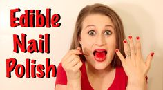Make your own edible nail polish that is 100% safe to eat! This recipe is no cook and super easy and takes under 5 minutes to make!