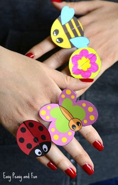 Printable Bug Paper Rings for Kids – Craft Template