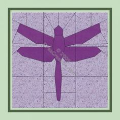 Dragonfly quilt pattern