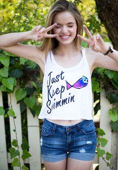 Keep Swim Crop Top