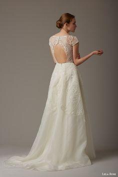 lela rose bridal spring 2016 the magnolia tree cap sleeve wedding dress lace bodice keyhole back